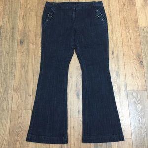 INC Brass Embellished Slip Pockets Stretch Jeans